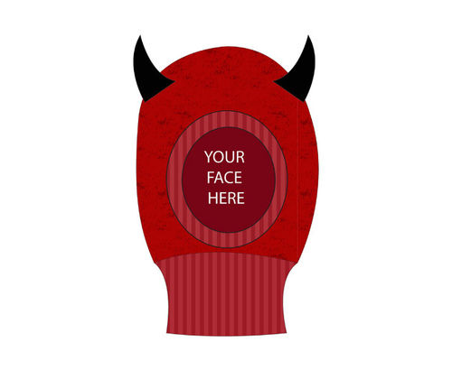 Freaks And Friends Beanie Devil Open Face Mask