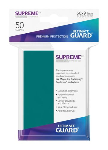 Ultimate Guard Supreme UX Sleeves Standardgröße Petrolblau (50)