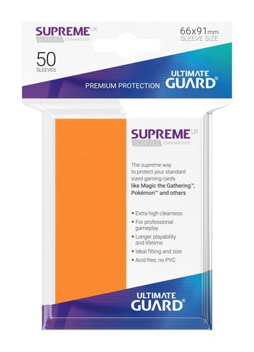 Ultimate Guard Supreme UX Sleeves Standardgröße Orange (50)