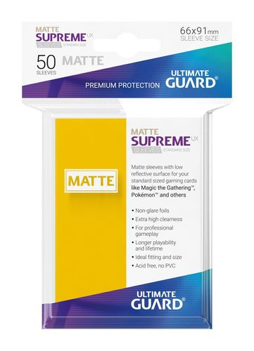 Ultimate Guard Supreme UX Sleeves Standardgröße Matt Gelb (50)